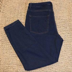Women's high rise skinny jeans navy 14 short